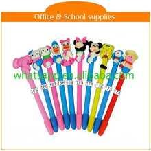 Design Cartoon Polymer Clay Ball Pen For Gifts crayon stylus pen