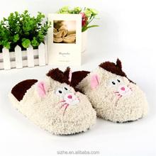 cartoon women soft slippers ladies flat slipper winter man slipper