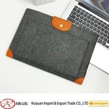 Wholesale felt laptop bag sleeve with leather corner new products for 2015