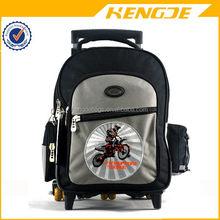 New style branded kids school trolley luggage bag