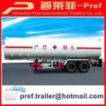Semi remolque tipo y CCC certificado ISO 2 aceite del eje cisterna semirremolque remolque / gasolina camión cisterna remolque / fuel Semi remolque venta