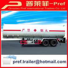 Semi trailer type and CCC ISO certificate 2 axle oil tanker trailer/petrol tank truck trailer/fuel tanker semi trailer for sale