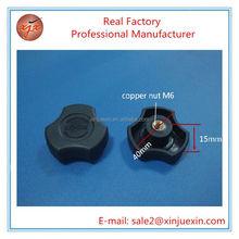 plastic clamping knobs black star ot flower knob