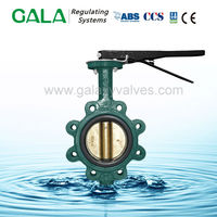pneumatic actuators control cast iron full lug type butterfly valve