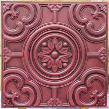 faux tin painting old ceiling tiles 3D embossed old age Decorative cafe pub shop old interior roof panels