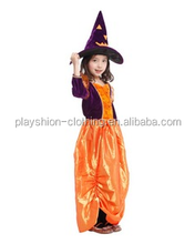 Costumes pumpkin little witch cute girls Fairy Halloween Costume Color matching costume