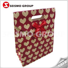 cheap paper bags with handles wholesale holographic foil paper bag