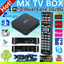 amlogic 8726 mx tv box dual core android smart tv box iptv mag250 paypal & escrow payment accept