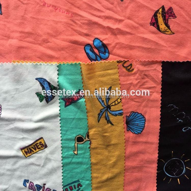 Shaoxing textil impresión suave 100D dty punto cepillado en keqiao China