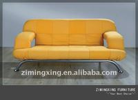 german yellow color two seater sofa bed