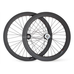 janpan carbon fiber bike wheelset 50/60mm fixie clincher wheel, en standard 700c track bicycle clincher carbon rim 50mm cycling
