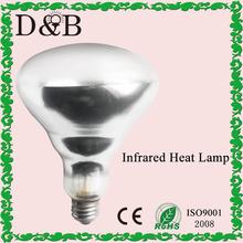 R40 r125 recubierto de teflón- vidrio duro de calor infrarrojo de la lámpara