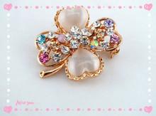 Beautiful Crystal Jewelry Brooch Flower Rhinestone Pearl Brooch Wholesale