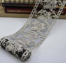 high quality embroidery lace fabric , wholesale black lace material