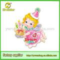 2014 mais recente de aniversário decoração itens, papel de etiqueta glitter para o aniversário da menina