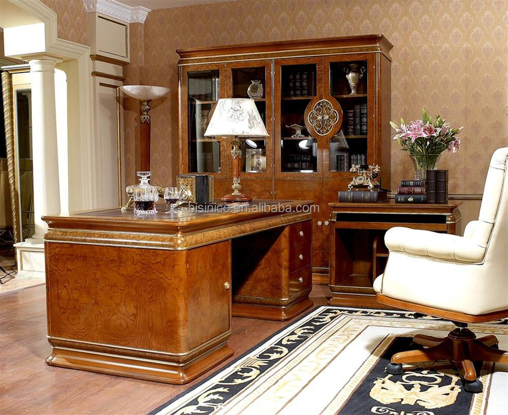 design italien luxe mobilier de bureau royale italienne de luxe bureau bureau table en bois id. Black Bedroom Furniture Sets. Home Design Ideas