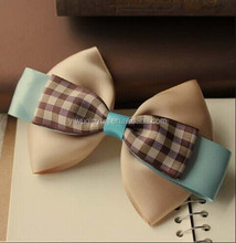 New style fabric bow hair clips
