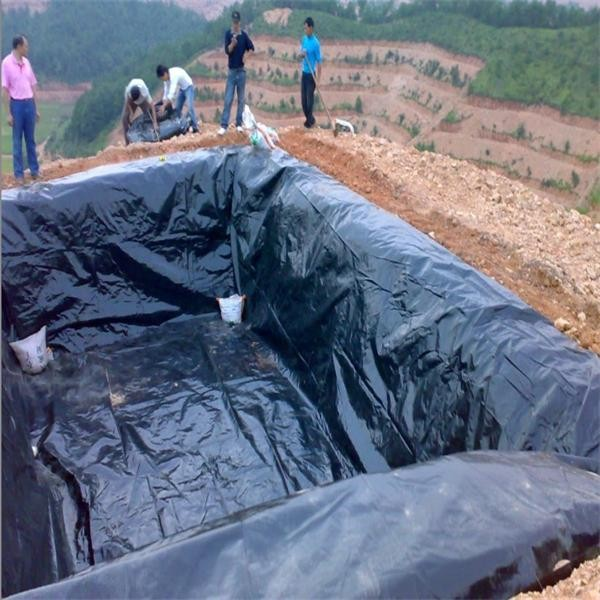 Woven hdpe geomembrane water tank liners black lining for for Water garden pond liners
