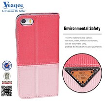 Veaqee popular wallet leather flip case cover for iphone 5s