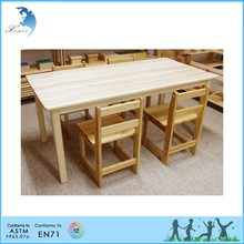 Kindergarten desk and chairs, school furniture for children