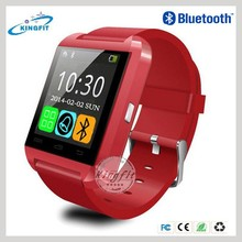 2015 Latest cheap touch screen wrist bluetooth bracelet smart watch mobile phone U8 with MIC/G-sensor/Music Player for iphone