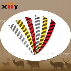 wholesale 3'4'5''' feather hunting archery arrow fletching with different color