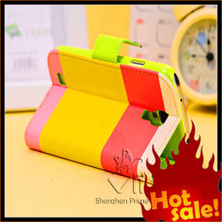 Top Quality Leather Case For Samsung Galaxy S4 i9500 Mobile Phone Wallet Case For Samsung Galaxy S4 with strap wholesale