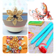 1 pcs Quilling Paper Tool Bifurcation Pen Rolling DIY Craft Flowers Handmade Art Slotted Plastic Handle Stainless Steel