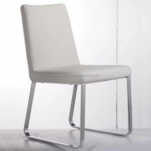 stainless steel leg and upholstery dining chair