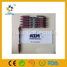 promotional ad banner pen with printing calendar,office supply plastic banner pen,plastic ballpoint banner pen