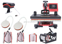 New CE Approved 8 in 1 combo heat press printing factory price machine