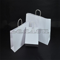 Small Recycled luxury Kraft Paper Carry Bags with Paper Twist Handles