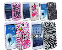 luxury bling glitter diamond hard mobie phone case cover for samsung galaxy s3 SIII i9300