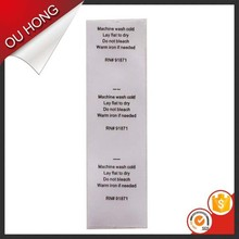 New Style Cheap Wholesale Printed 100% Polyester Care Label