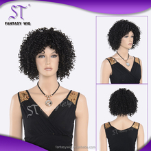Fashion style blond synthetic wigs for african american women