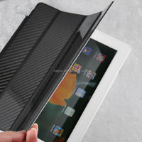 Napov Low MOQ Selling Excellent Smart Carbon Fiber Case Cover for iPad 2 3 4