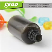 Hottest plastic pet dropper bottle 30ml e liquid pet bottle round black plastic e liquid bottle with childproof cap