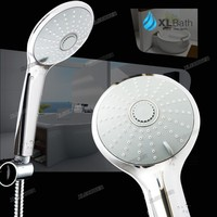 XLSHOWER Hot sell 2015 new product 3 functions round abs spa water saving showerhead