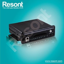 Resont Mobile Vehicle Blackbox Car DVR Bus Surveillance Super 4CH H.264 cctv DVR support 3G GPS and Wifi With 3.5\'\' TFT for se