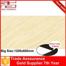 120x60cm porcelain laminate wood grain exterior wall thin tile