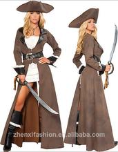 disfraz de halloween piratas del caribe para femal y traje de la mujer