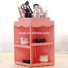 Maquillaje de plástico organizador caja de almacenamiento de cosméticos