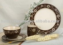 Modern style ceramic decal dinner set