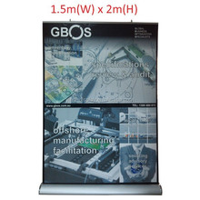 pp paper roll up banner stand with cover