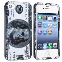 Snap-on Rubber Coated Case compatible for Apple iPhone 5S/5C Hundred US Dollar Money