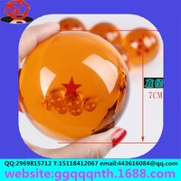 Craft gift toy Anime peripheral Hand model Q version Furnishing articles vegeta 7CM Golden translucent star acrylic dragon ball