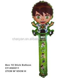 Wholesale Inflatable Ben10 Stick Foil Balloon,Kids Toys Clapper Stick Balloon