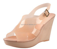 2014 top fashion jelly peep toe shoes shoes