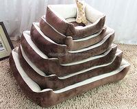 Wholesale Soft short plush cozy pet crate pet bed
