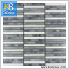 Honed Italy Grey glass mosaic adhesive